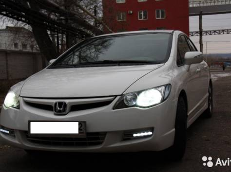 Продам Honda Civic4d седан,белый,1.8МХ, фотография 1