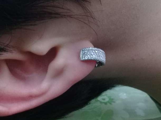 Серебрянные серьги, фотография 3
