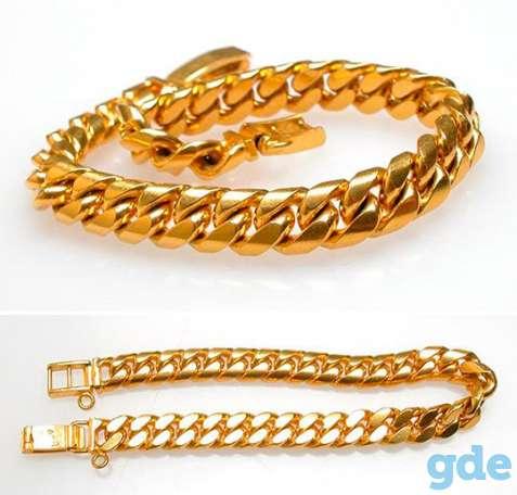 Золотой мужской браслет gold m.золото!дешево!, фотография 2