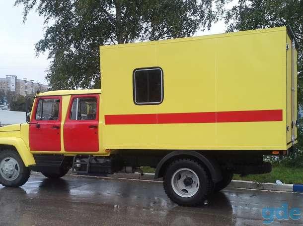 Автомобиль аврийно спасательной службы на шасси ГАЗ 3309. Двухрядная кабина., фотография 1