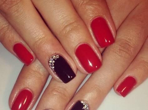 Фото ногтей покрытых шеллаком на короткие ногти