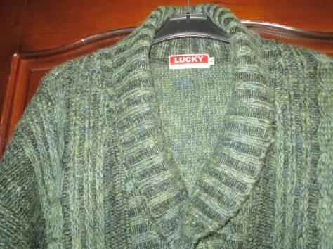 Пуловер мужской вязаный,  шерсть, р. 50 – 52, Lucky Fashion Wear, Индия., фотография 4