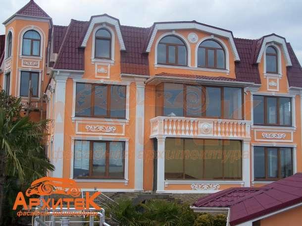 Оформление фасадов, декор из пенопласта, фотография 1