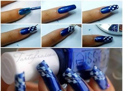 Как сделать на ногтях рисунок иголкой
