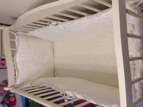 Продам детскую кроватку+комод с пеленальным столом+бортики в кроватку, фотография 5