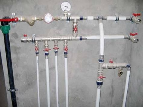 Водопровод в частном доме  от центрального водопровода схема
