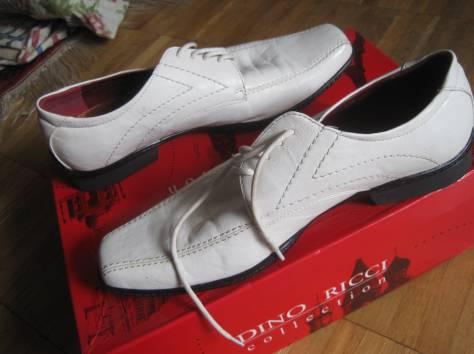 Туфли новые, 100 % натуральная кожа, размер сорок один ( сорок первый ) ( 41 ), белого и чёрного цветов, модели разные,, фотография 3