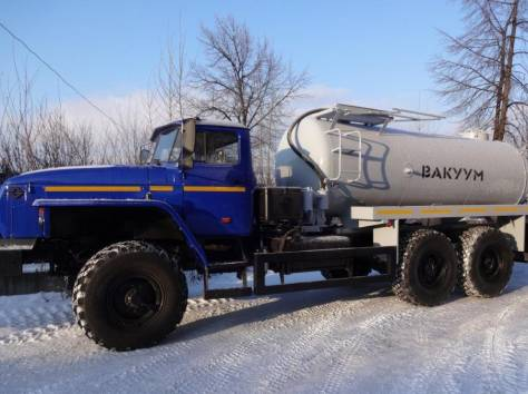 Машина вакуумная МВ-10 на Урале дв. ЯМЗ-238 новый с консервации с новой  цистерной , фотография 1