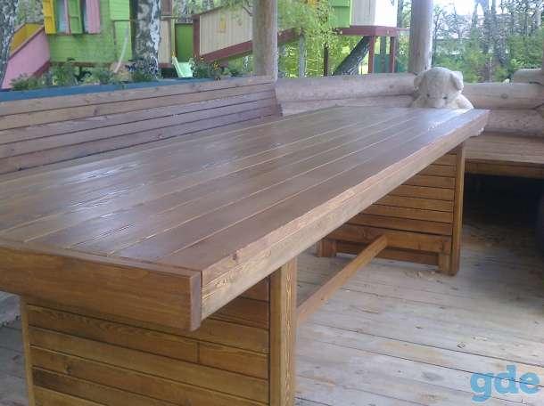 Заокский лиственница   столешницы  вагонка  мебель Лестницы, фотография 6