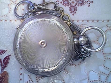 Карманные часы Борель серебро, фотография 5