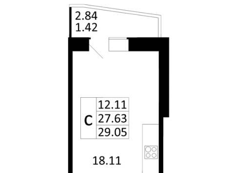 Продается квартира студия в г.Никольское, фотография 1