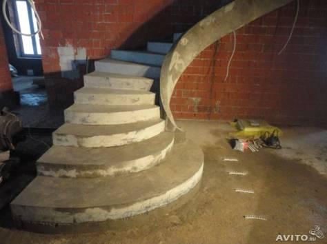 строительство монолитных лестниц, фотография 6