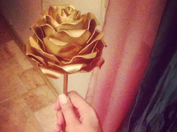 Металлическая роза ручной работы, фотография 3