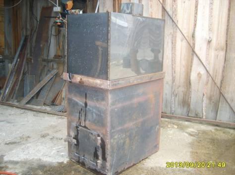 печь для бани с баком из нержавейки на 96литров, фотография 2