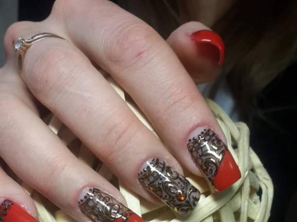 Дизайн укрепление ногтей гелем