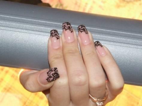 Фото дизайн ногтей кружева