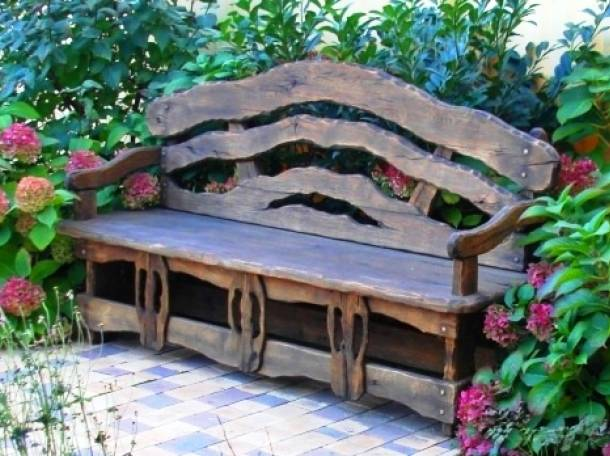 Скамейки, лавки в стиле Прованс, Классика из массива , фотография 9