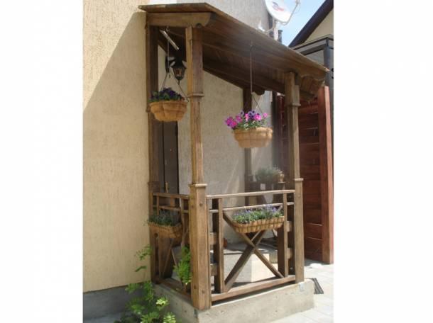 Беседки, перголы, крыльцо, мостики, вазоны деревянные , фотография 9