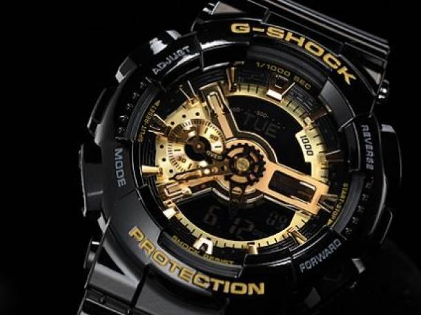 Часы G-shock 110RG, черные с золотом , фотография 2