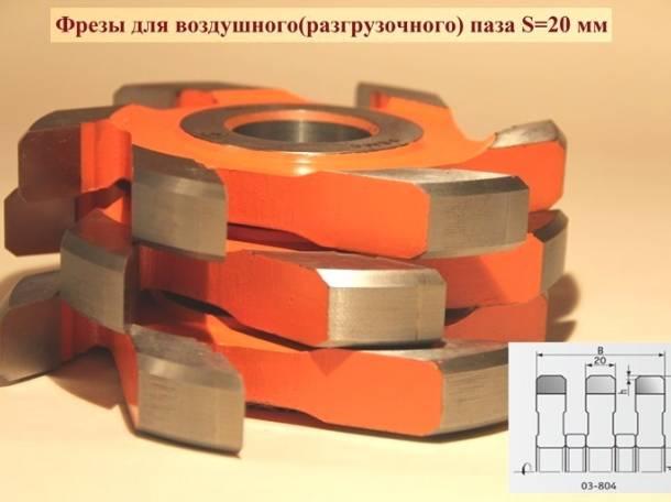 Фрезы для воздушного разгрузочного паза 20 мм, Р6М5, фотография 1