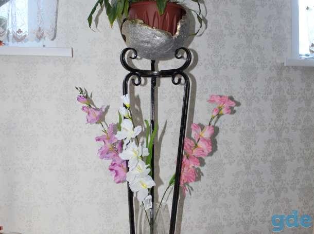Кованные подставки под цветы, фотография 1