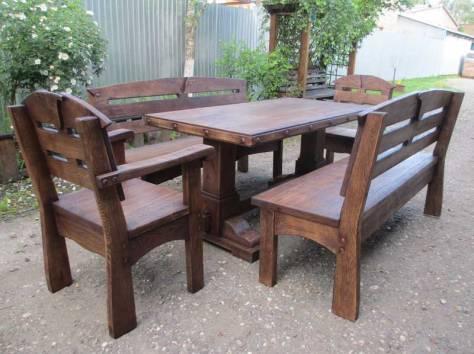 Уличная мебель из массива дуба,  лиственницы, фотография 3