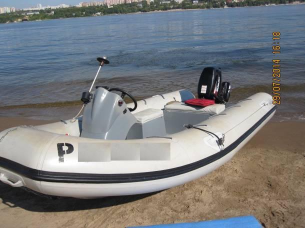 Лодка RIB (РИБ) «Ладья» 4,8 метра с мотором «SUZUKI-DT30S» и  дистанционным рулевым управлением, фотография 2
