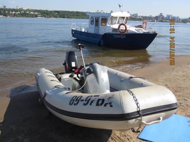 Лодка RIB (РИБ) «Ладья» 4,8 метра с мотором «SUZUKI-DT30S» и  дистанционным рулевым управлением, фотография 3