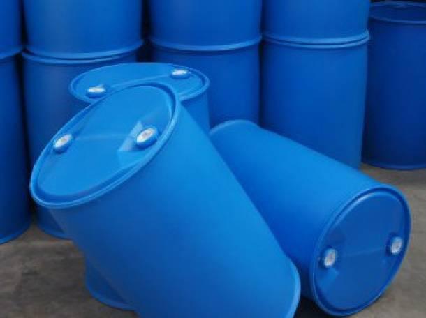Продам бочки пластиковые 227л. два отверстия, б/у промытые, пропаренные, фотография 1