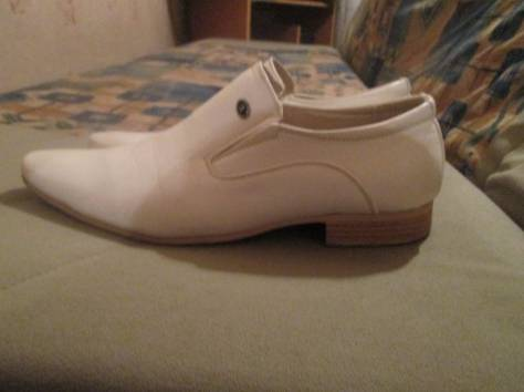 продам белые мужские туфли, фотография 1