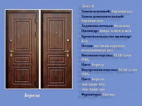 металлические двери внутрь