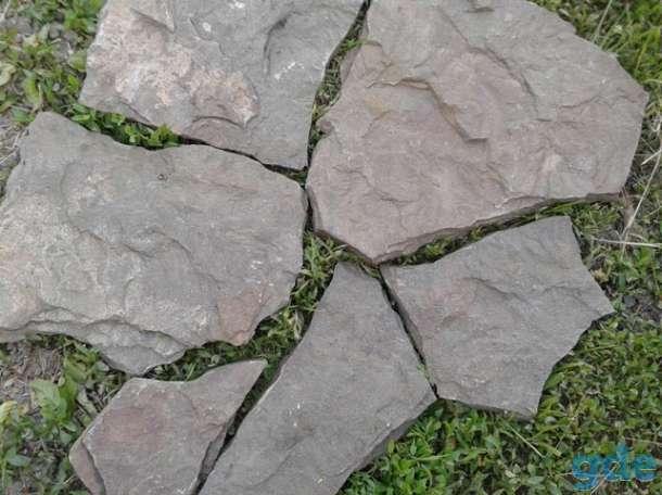 Дракон песчаник серо-зелёный природный камень натуральный, фотография 1