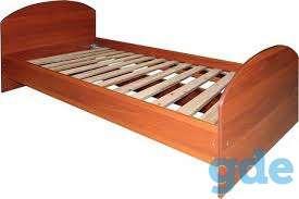 Кровать  металлическая одноярусная из 32 трубы с перемычкой ,кровать для гостиниц,общежитий хостела по низким ценам, фотография 1