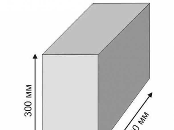 Пеноблок 600*300*200  D500, фотография 1