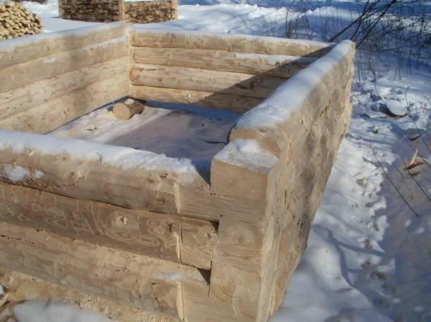 Срубы новые для бани из липы и осины . В наличии. Качественно срублены., фотография 1