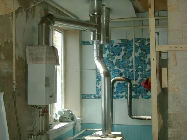 Устройство дымоотвода газового отопительного котла, фотография 2
