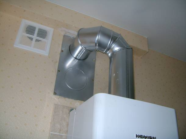 Устройство дымоотвода газового отопительного котла, фотография 4