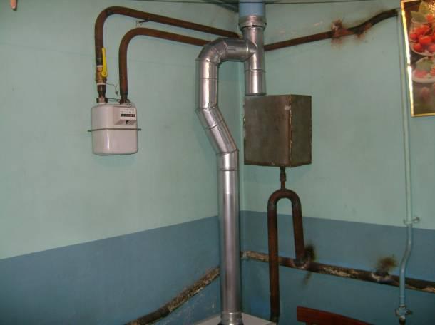 Устройство дымоотвода газового отопительного котла, фотография 5