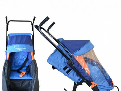 Санки-коляска Скользяшки с 4 колёсиками Герда Скандинавский узор 4Р-3 Овелон, фотография 3