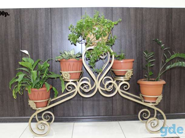 Кованные подставки под цветы, фотография 5