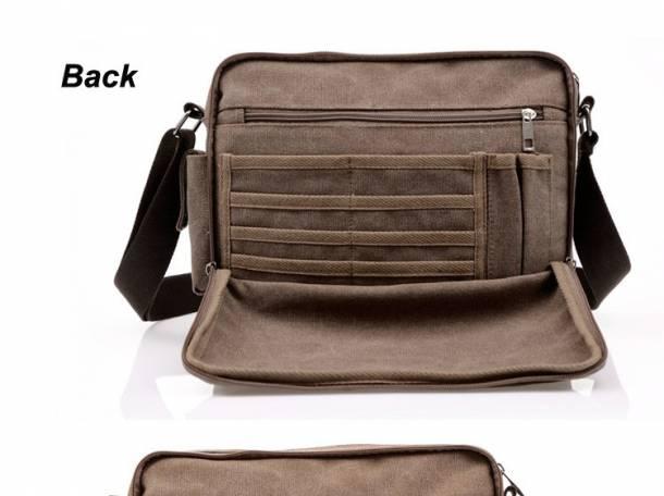 Многофункциональная холщовая мужская сумка на плечо Bolsa Masculina, фотография 2