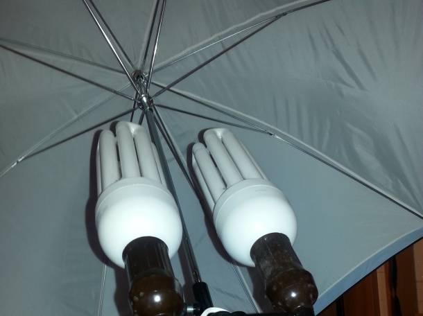 Стойка осветительная с зонтом и лампами., фотография 2