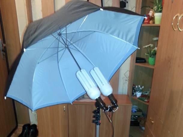 Стойка осветительная с зонтом и лампами., фотография 8