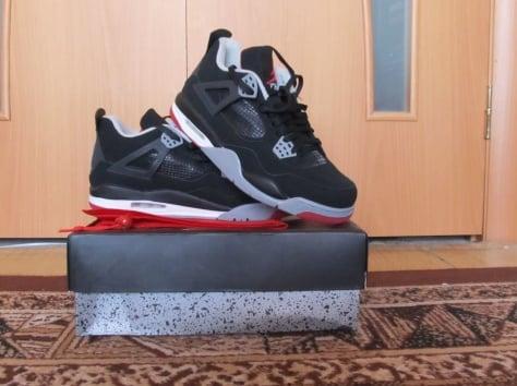 Кроссовки Air Jordan retro 4 bred Black/Red/Grey, фотография 2
