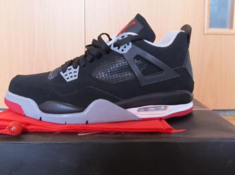 Кроссовки Air Jordan retro 4 bred Black/Red/Grey, фотография 3