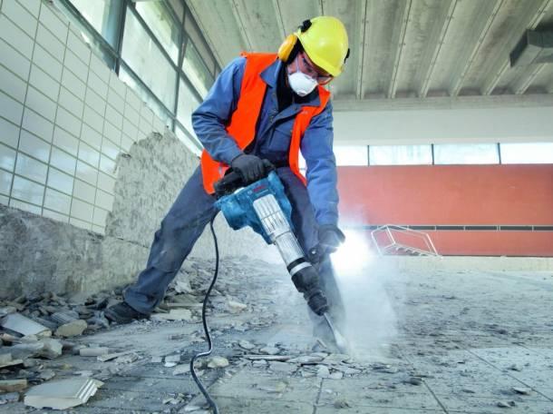 демонтаж бетона отбойными молотками