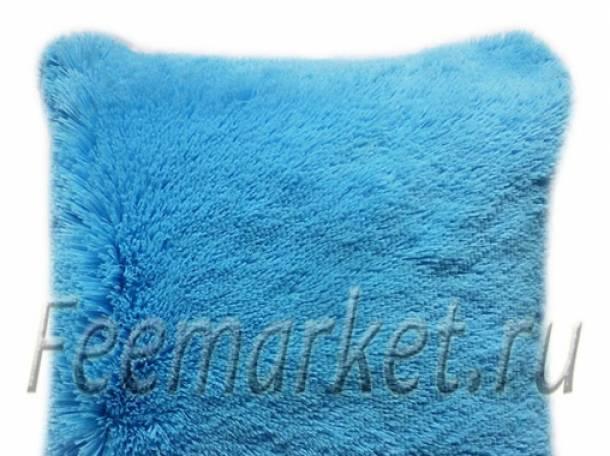 Продам наволочки меховые, цвет голубой, фотография 1