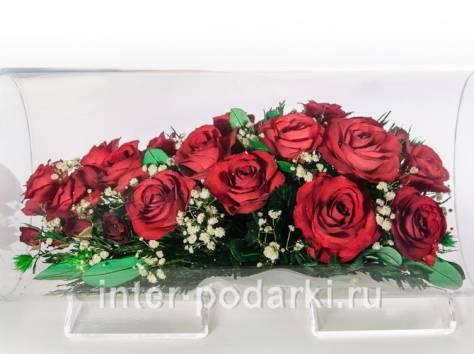 Цветы натуральные в герметичных вазах , доставка, фотография 7