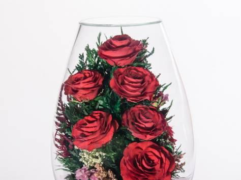 Цветы натуральные в герметичных вазах , доставка, фотография 9