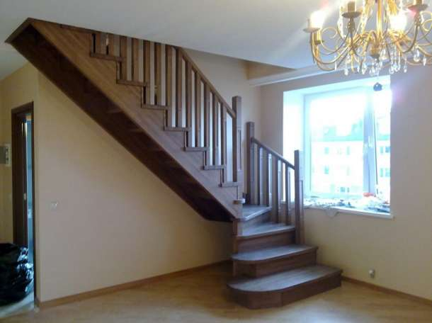 Деревянные лестницы из сосны , бука , ясеня , дуба ., фотография 4